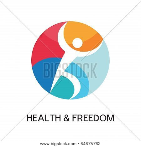 Man Logo Sign for sport club, health center, music festival etc.