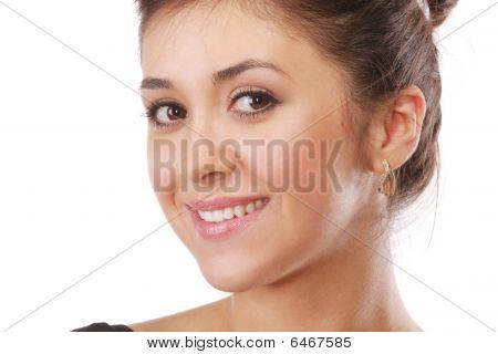 Smiling Backcombed Brunette