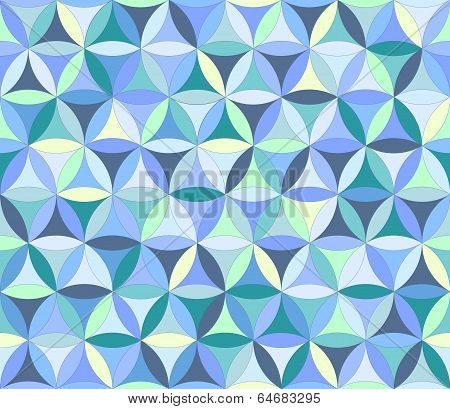 Flower Of Life Seamless Pattern Blue