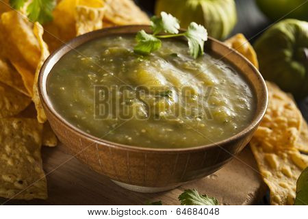 Homemade Salsa Verde With Cilantro