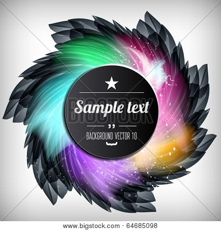 Abstract flower background with sparks and flashes. Vector Illustration, Graphic Design Editable For Your Design.