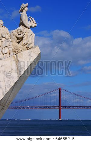 Monument To The Discoveries Of New World In Lisboa, Portugal