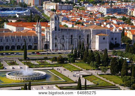 Panorama Of Hieronymites Monastery Is Located In The Belem District Of Lisbon