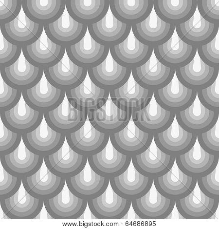 Seamless Geometric Pattern Grey Fishskin