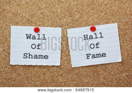 Shame or Fame?