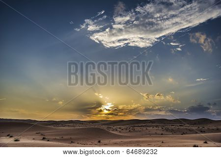 Sunset Desert Wahiba Oman