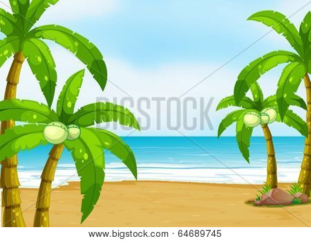 Illustration of a peaceful beach