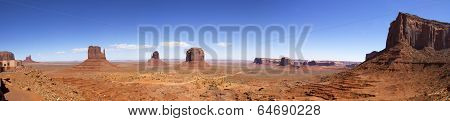Panoramic Scene in Monument Valley