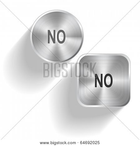 No. Vector set steel buttons