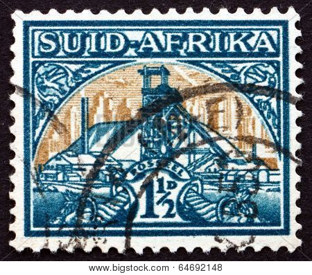 Postage Stamp South Africa 1941 Gold Mine