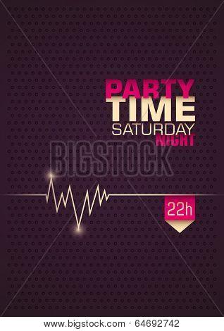 Minimalistic party poster design. Vector illustration.