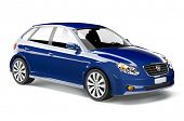 stock photo of designated driver  - Blue car - JPG