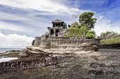 stock photo of tanah  - Tanah Lot temple on Bali island Indonesia - JPG