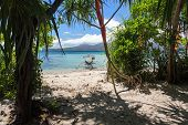 foto of camiguin  - White sand beach in the small and wild Mantigue island in Philippines - JPG