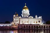 picture of gurudwara  - Gurdwara Bangla Sahib is the most prominent Sikh gurdwara - JPG