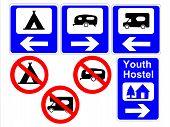 Постер, плакат: Кемпинг и караван знаки