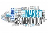 stock photo of market segmentation  - Word Cloud with Market Segmentation related tags - JPG