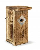 foto of nesting box  - Wooden birdhouse self - JPG