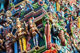 foto of meenakshi  - Detail of Meenakshi Temple in Madurai India - JPG