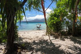 image of camiguin  - White sand beach in the small and wild Mantigue island in Philippines - JPG