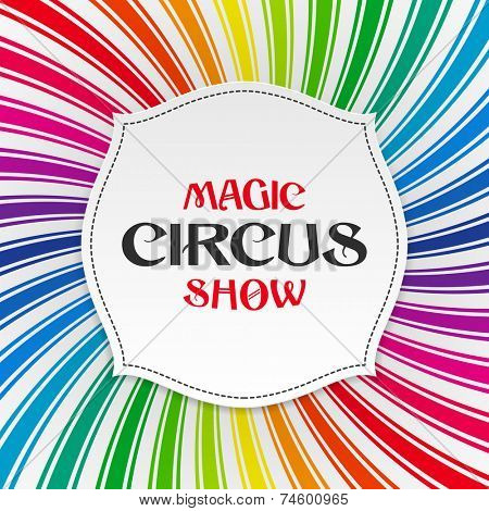 Magic circus show poster, background. Vector.