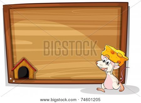 Illustration of a mouse carrying cheese