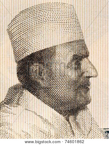 GUINEA- CIRCA 1981: Mohammed V of Morocco (1909-1961) on 2 Sylis 1981 Banknote from Guinea.
