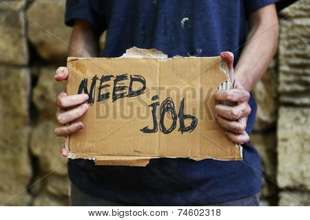 Homeless needs job