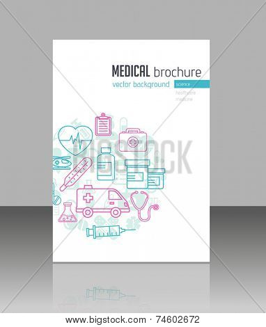 Medical brochure template for web or print