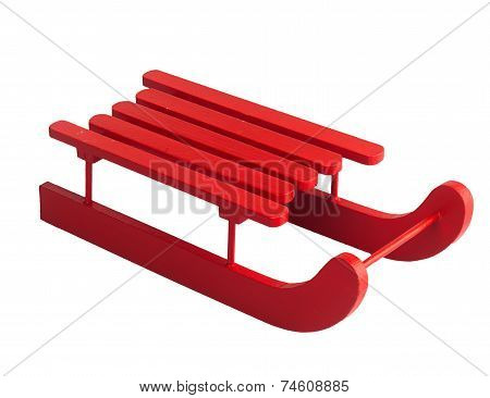 Wooden Red Sled