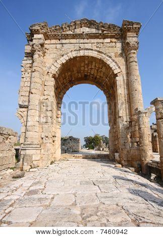 Roman Triumphal Arch at Tyre (Lebanon)
