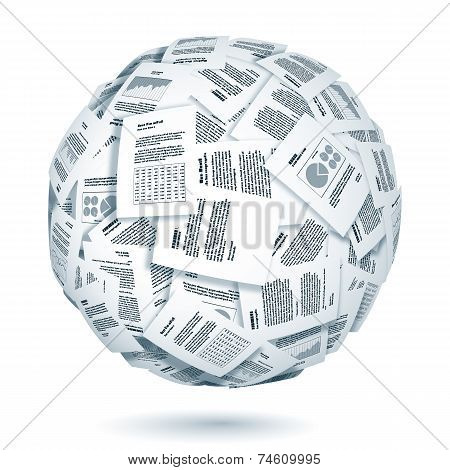 Ball of documents