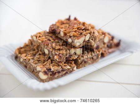 Home made organic granola bars