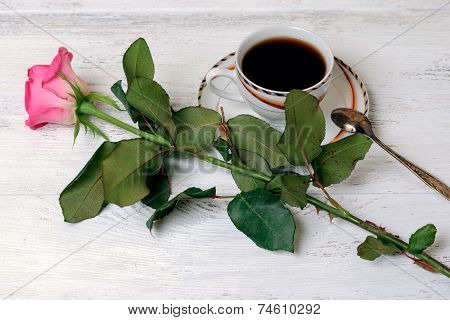 Coffee And Rose