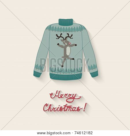 cute sweater with Christmas deer