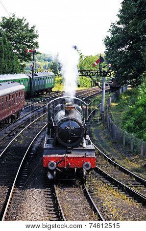 Steam locomotive, Bridgnorth.