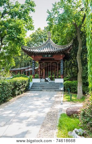 The Pavilion In Traditional Chinese Garden