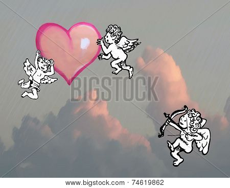 Cupid And Heart