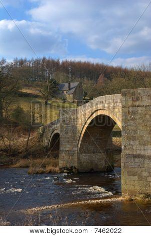 Stone Bridge Over River Wharfe