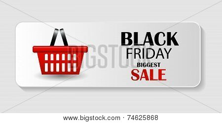 Black Friday Sale Icon Vector Illustration