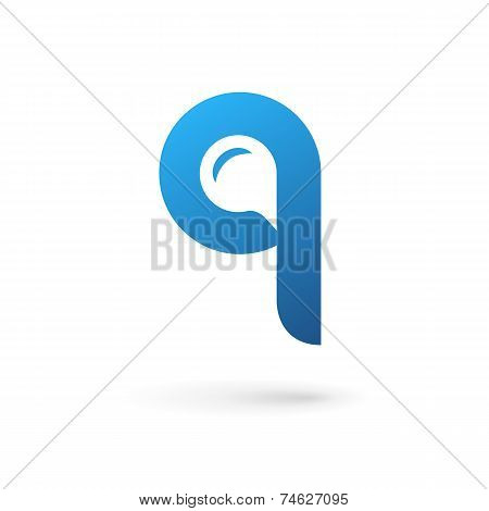 Letter Q Speech Bubble Logo Icon Design Template Elements