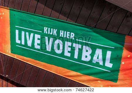 Dutch Advertising For Football Public Viewing