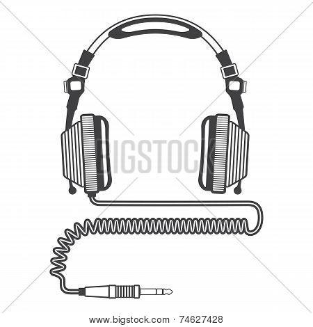 Outline Big Headphones
