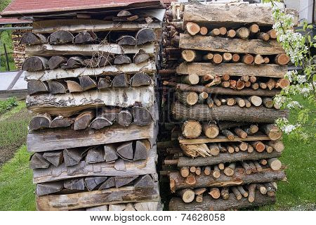 Stocks Firewood Ready For Winter