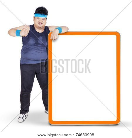 Overweight Person And Copyspace