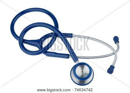 stethoscope against white background, symbol photo for the medical profession and diagnostics