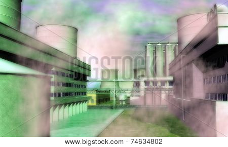 Surreal Industrial Area