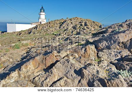 Lighthouse At Cap De Creus Peninsula, Catalonia, Spain
