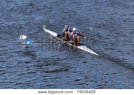 Malta NARR rowing with Fred Duling and Jeff Brock race in the Head of Charles Regatta