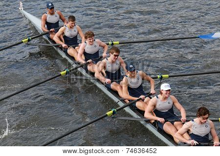 Georgetown University races in the Head of Charles Regatta Men's Championship Eights